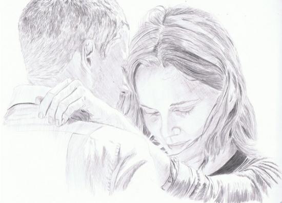 Sarah Wayne Callies, Wentworth Miller by kimberquest